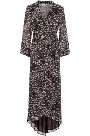 Ganni Floral georgette maxi wrap dress