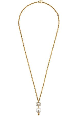 Gucci GG faux pearl necklace