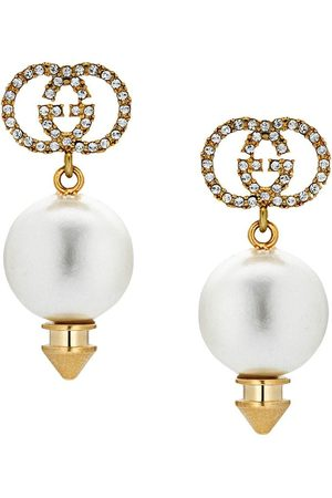 Gucci GG faux pearl earrings