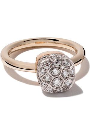 Pomellato 18kt rose and gold Nudo Solitaire diamond ring