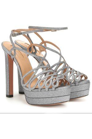 Aquazzura Sandals - Monroe Plateau 130 glitter sandals