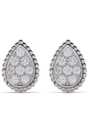 Boucheron 18kt white gold Serpent Bohème diamond stud S motif earrings