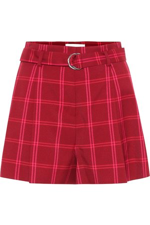 JONATHAN SIMKHAI High-rise checked shorts