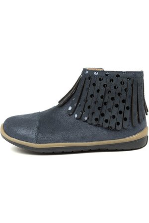 Clarks Mari Ck Navy Boots Girls Shoes Casual Long Boots