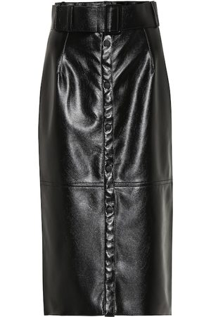 Msgm Pencil Skirts - Faux leather midi pencil skirt