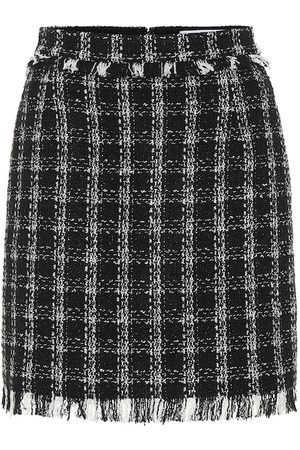 Msgm Tweed cotton-blend miniskirt