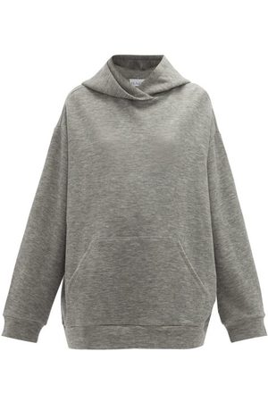 Raey Oversized Cashmere-blend Hooded Sweatshirt - Womens - Marl
