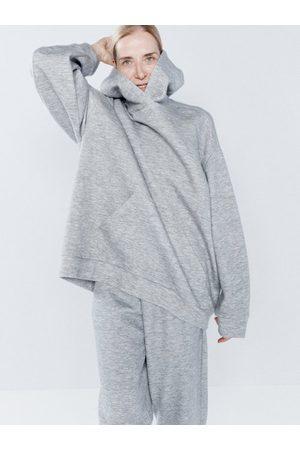 Raey Women Hoodies - Oversized Cashmere-blend Hooded Sweatshirt - Womens - Marl