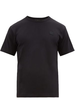 Acne Men Short Sleeve - Chest Patch Cotton Jersey T Shirt - Mens