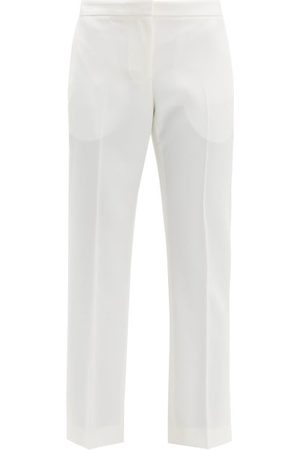 Alexander McQueen Tailored Virgin Wool Twill Trousers - Womens - Ivory