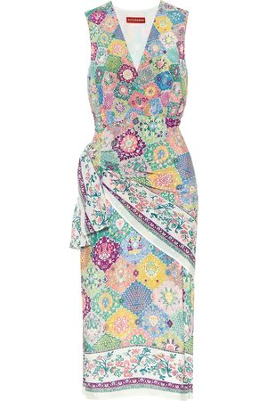Altuzarra Sade printed silk wrap dress