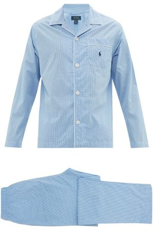 Polo Ralph Lauren Logo Embroidered Gingham Cotton Pyjamas - Mens