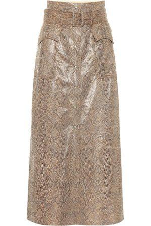 Nanushka Aarohi snake-effect faux leather skirt