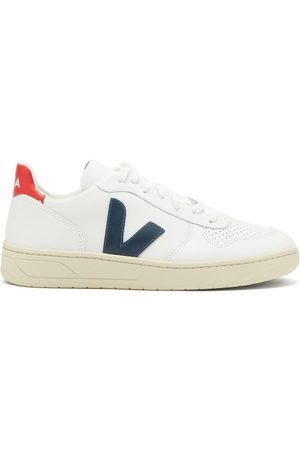 Veja Women Sneakers - V 10 Low Top Leather Trainers - Womens - Multi