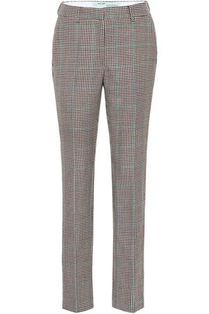 OFF-WHITE Checked wool pants