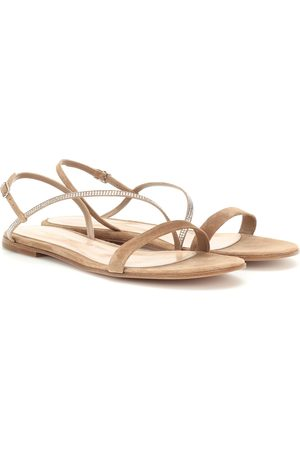 Gianvito Rossi Exclusive to Mytheresa – Camincry embellished suede sandals