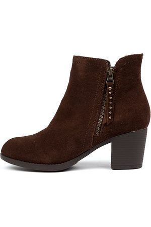 Skechers 48459 Taxi Don't Trip Chocolate Boots Womens Shoes Ankle Boots