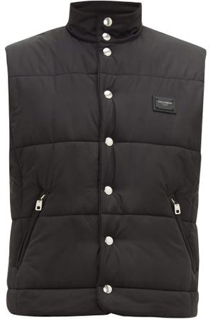 Dolce & Gabbana Logo Appliqué Quilted Gilet - Mens