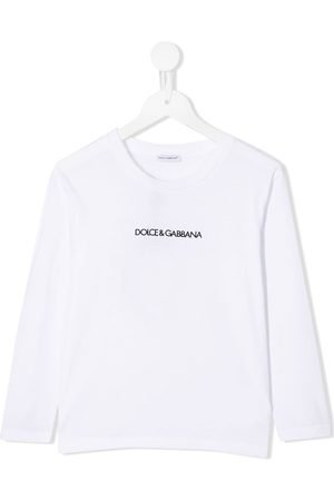 Dolce & Gabbana Logo print long sleeve top