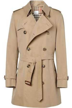 Burberry Men Trench Coats - Cotton Gabardine Trench Coat