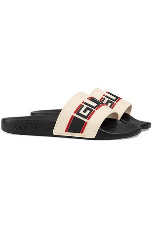 Gucci Logo print pool slides