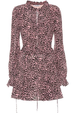 Les Rêveries Exclusive to Mytheresa – Leopard-print crêpe de chine minidress