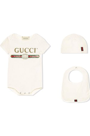 Gucci Logo printed babygrow set