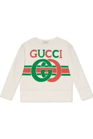 Gucci Kids Boys Short Sleeve - Interlocking G sweatshirt