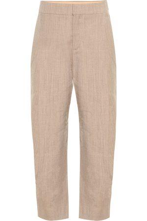 Chloé Cropped high-rise stretch-wool pants