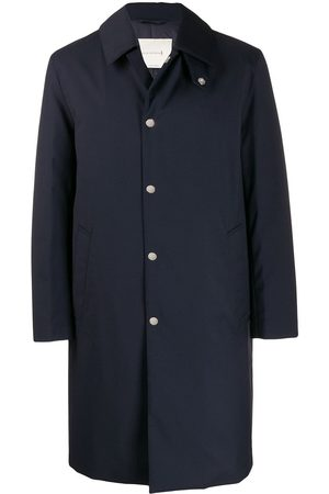 MACKINTOSH Men Trench Coats - DUNKELD Navy Storm System Wool THINDOWN 3/4 Coat GM-1001TD