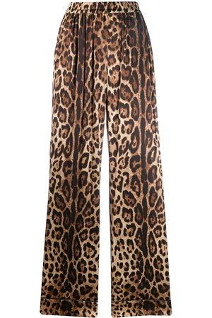 Dolce & Gabbana Women Pants - Leopard-print straight trousers