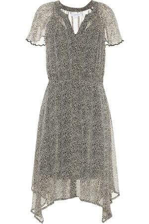 Velvet Printed Dresses - Belen leopard-print dress
