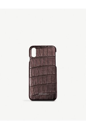 Mintapple Alligator-embossed leather iPhone Xs Max case