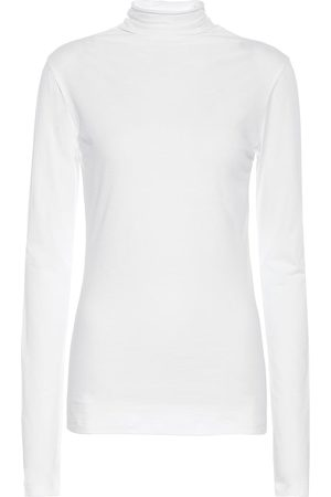Velvet Talisia stretch-cotton turtleneck top