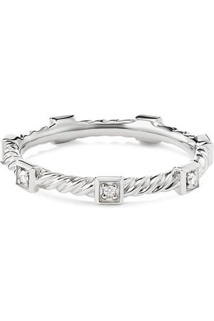 DAVID YURMAN Women Rings - Cable Collectibles' diamond 18k white gold ring