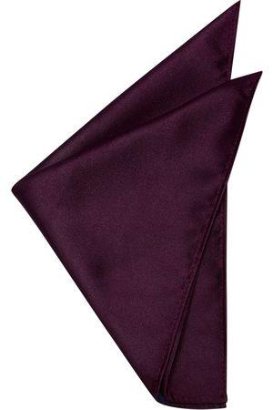 Yd. Matte Satin Pocket Square Burgundy One