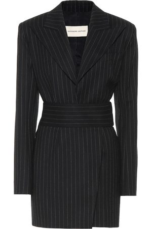 ALEXANDRE VAUTHIER Striped stretch-wool minidress