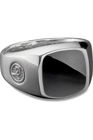 David Yurman Exotic Stone' onyx silver signet ring