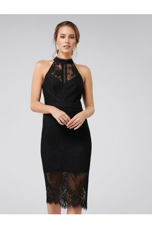 Forever New Lena High Neck Lace Bodycon Dress
