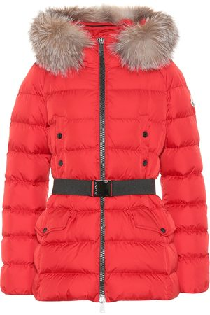 Moncler Coats - Clion quilted fur-trimmed down coat