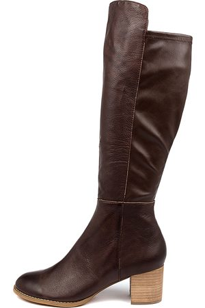 Django & Juliette Women Knee High Boots - Setley Whisky Boots Womens Shoes Casual Long Boots