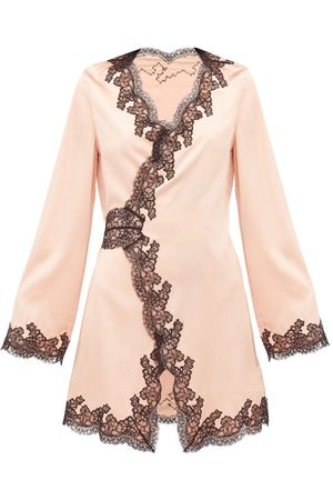 Agent Provocateur Amelea Lace-trimmed Silk-blend Pyjama Top - Womens