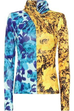 RICHARD QUINN Floral velvet high-neck top
