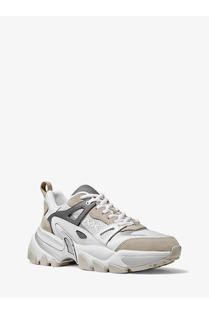 Michael Kors Sneakers - Penn Leather Suede And Mesh Trainer