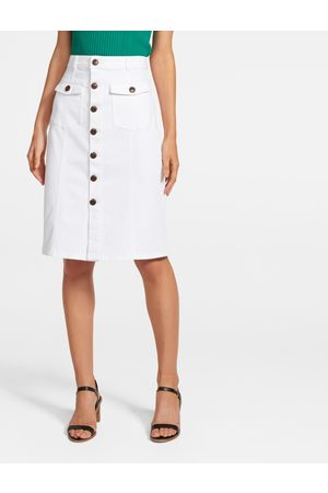 Forever New Camilla Utility Denim Midi Skirt