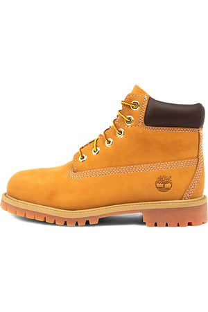 Timberland 6 Premium Icon Boot Jnr Wheat Boots Boys Shoes Casual Ankle Boots