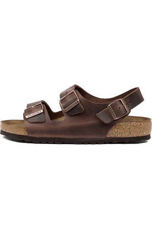 Birkenstock Men Sandals - Milano Sfb Bk Habana Sandals Mens Shoes Casual Sandals Flat Sandals