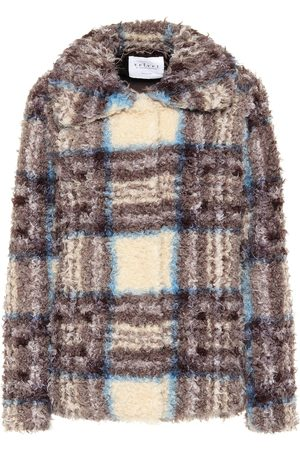 Velvet Erica plaid faux fur jacket