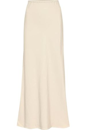 Agnona Satin-twill midi skirt