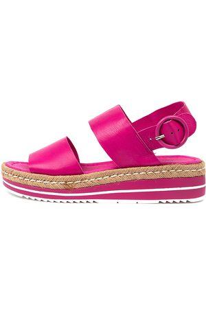 Django & Juliette Atha Fuchsia Sandals Womens Shoes Casual Sandals Flat Sandals